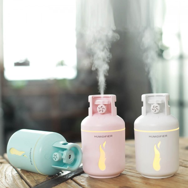USB Car Essential Oil Aromatherapy Diffuser Portable USB Charging Aromatherapy Diffusers Desktop Ultrasonic Cool Mist Humidifier 300ml High Capacity LED Night Light Timing Gas   Tank Shape for Home Office Car Vehicle Travel