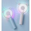 USB charging colorful atmosphere lamp mute mini fan portable handheld fan