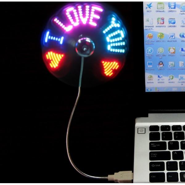 Unique USB RGB Programmable Message Fan PC Program Version