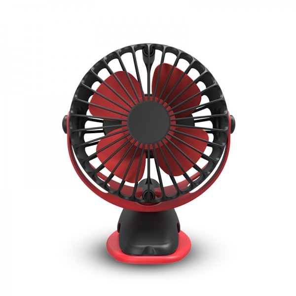 Battery Operated Fan, 2 in 1 - Clip and Desk Fan, Portable/Rechargeable/Desk/Stroller Fan with 360 Degree Rotation, 4000mAh Battery for Baby Stroller, Car, Gym, Office, Outdoor, Traveling, Camping