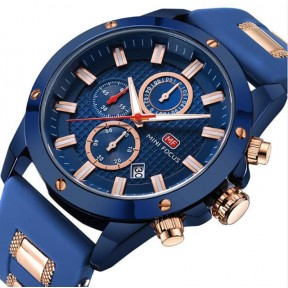 Men's Chronograph Analog Quartz Business Watch with Date Luminous Waterproof Silicone Strap Casual Dress Wrist Watches for family gift