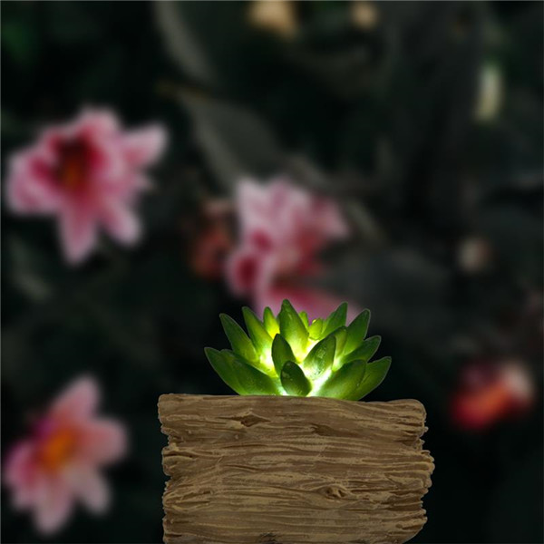 Artificial Succulents Potted with Solar Table Lamp, Garden Patio Lights for Home Party Yard Patio Outdoor Indoor Decoration Night Lamp