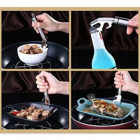 Stainless Steel Heat Proof Bowl Holder Kitchen Anti-Scald Plate Bowl Dish Pot Clamp Holder Portbale Plate Lifting Device Hot Dish Bowl Clip