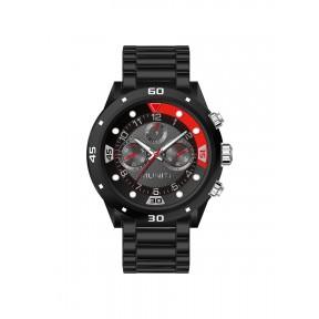 Men's personality sports quartz watch steel band waterproof wrist watch