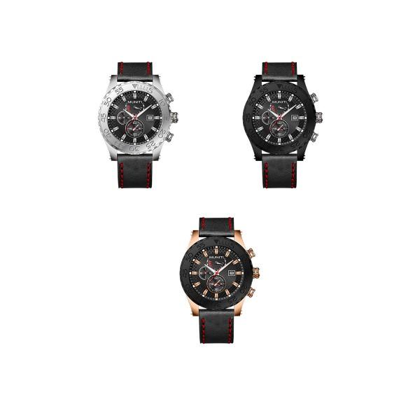 Mens Quartz Watch Sub-dials High Quality Stylish Watch