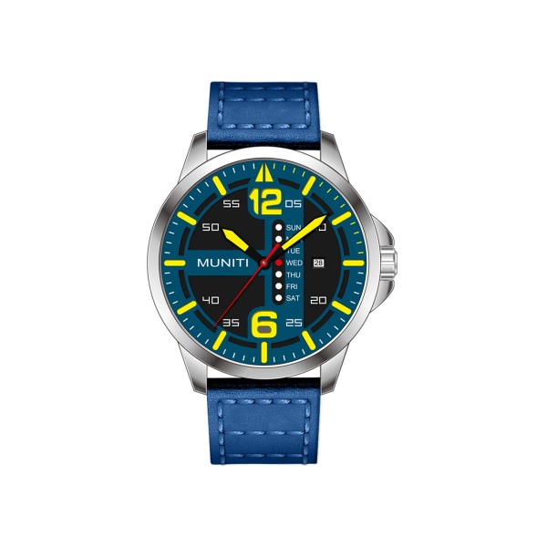 Mens Quartz Watch All Match Leisure Waterproof Trendy Watch