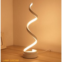 Vertical Spiral Dimmable LED Table Lamp, Curved LED Desk Lamp, Contemporary Minimalist Lighting Design, Warm   or White Light,Smart Acrylic Material Perfect for Bedroom Living Room