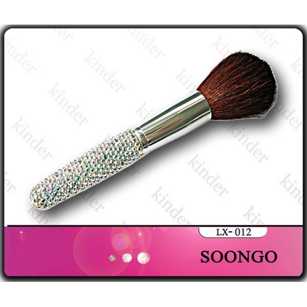 Foundation Diamond Cosmetic Makeup Brush Kabuki for Face - Perfect For Blending Liquid, Cream or Flawless Powder Cosmetics - Buffing, Stippling, Concealer - Premium Quality Synthetic Dense Bristles Plastic Handle with Rhinestone