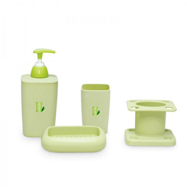 . Bamboo Fiber Plastic Bathroom Accessory Set  Bath Accessory Set With