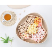Bamboo Fiber Branch Handle Party Favor Boxes Candy Gift Fruits Box Wedding Favors 5 Count