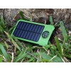 Solar Power Bank, Portable Charger 20000mAh External Battery Pack Micro Input Port Dual   Flashlight, Compass and Portable Carabiner and Compass Design(Splashproof, Dustproof,   Shockproof,Solar Panel Charging, DC5.5V/2A Input)