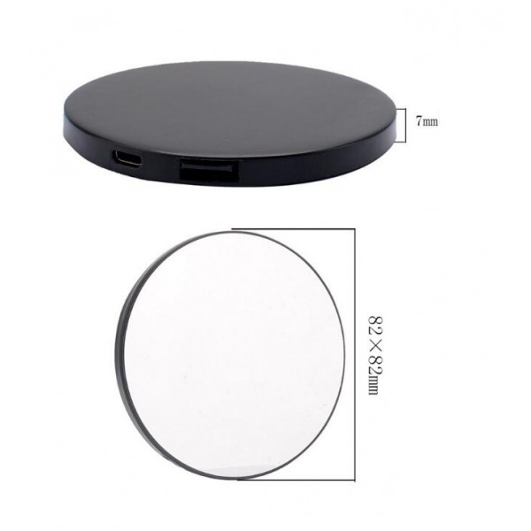 Power Bank Makeup Mirror Compact Portable Charger 2000mAh as Gift for Friends,Girls,Mom etc
