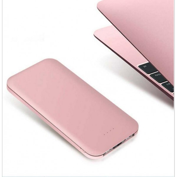 8000mAh Ultra Slim Power Bank, Dual Smart USB Port 5V/2.1A External Mobile   Battery Charger Pack for iPhone, iPad, iPod, Samsung Galaxy, Cell Phones,   Tablets Aluminium Alloy Housing