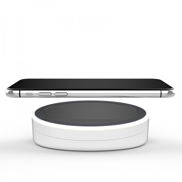 Wireless Mirror Charging Pad Dock Cradle Compact Portable Charger USB For iPhone,Android etcPower banker