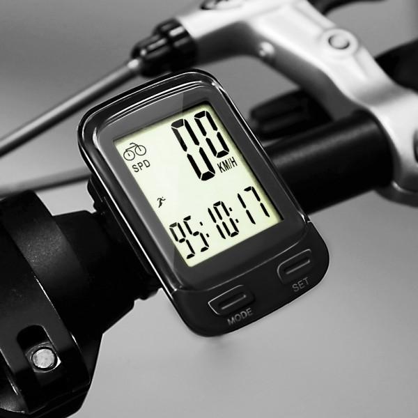 SOON GO Bike Computer Wireless Waterproof MPH&KM Cycle Speedometer Multifunctional Bicycle Accessories Large LCD Display Backlight