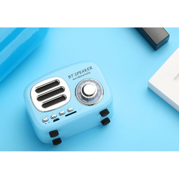 Bluetooth Retro Speaker, Wireless Mini Vintage Speaker with TF Card Slot,Hands-Free Call,Built-in Mic for Travel, Home, Beach, Kitchen, Outdoors