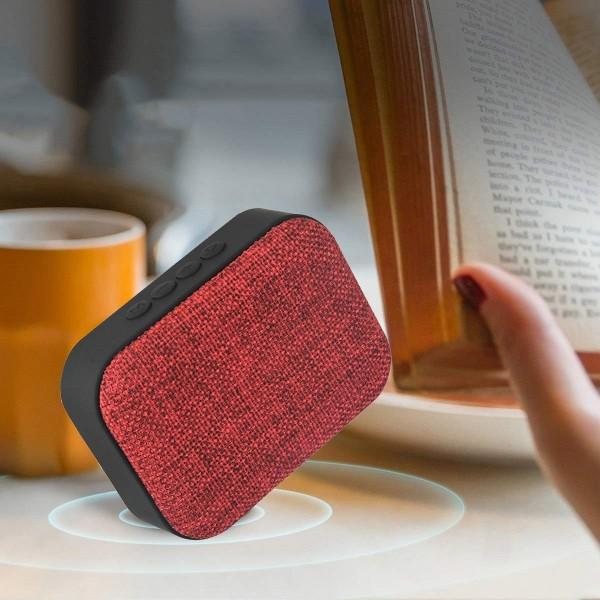 Portable Canvas Fabric Art Mini Bluetooth Wireless Speaker Loudspeaker FM Radio Support TF U-Disk