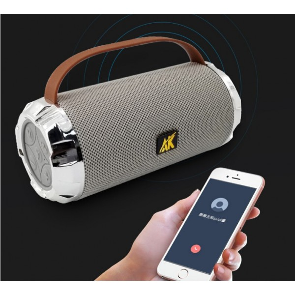 LED Portable Bluetooth Speaker, Wireless Indoor Outdoor Boombox with FM Radio, AUX, USB, SD Card and MIC Support