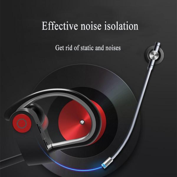 Portable Bluetooth Headphones, Wireless Earphones with Adjustable Earhooks for Extra Stability (IPX4 Waterproof & Sweat-Proof, AptX Lossless Sound, 8 Hours Playtime)Earphone